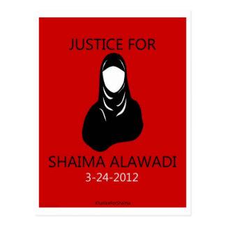 Rättvisa för Shaima Alawadi Vykort