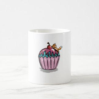 Räv på en muffin kaffemugg