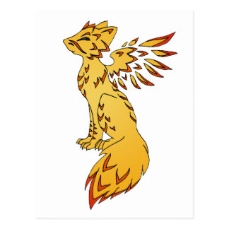 Räv Phoenix Vykort
