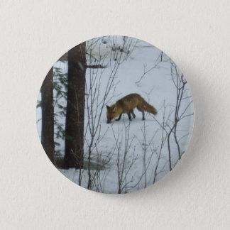 Räv - vilda djurvecka standard knapp rund 5.7 cm