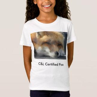 Rävaktig Tshirt för flicka Tröja