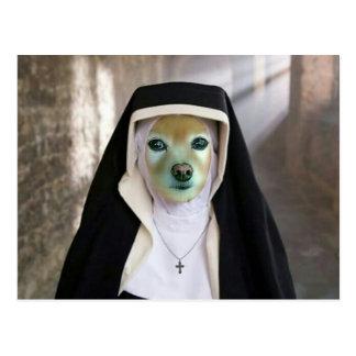 Räven är en annan nunna vykort