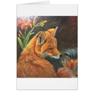 räven landskap målar målning räcker konstnaturen hälsningskort