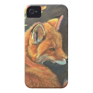 räven landskap målar målning räcker konstnaturen iPhone 4 Case-Mate fodral