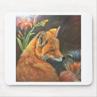 räven landskap målar målning räcker konstnaturen musmatta