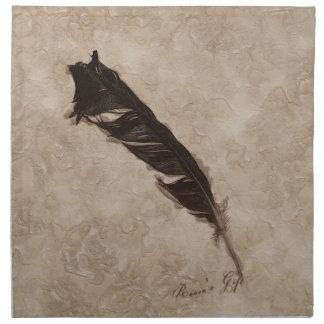 Ravens design för fjäderFågel-älskare kråka Tygservett
