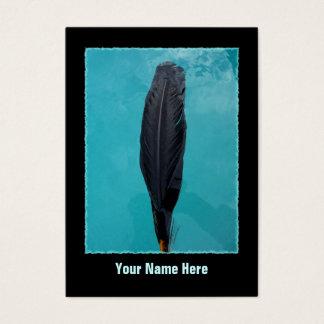 Ravens fjäder visitkort