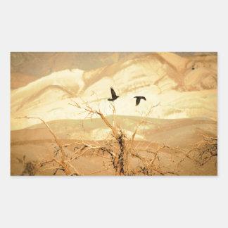 Ravens i Death Valley Rektangulärt Klistermärke