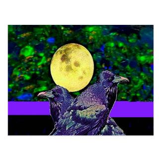 Ravens magiska gåvor för måne vid Sharles Vykort