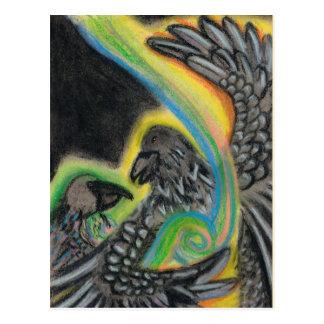 Ravens som lätt läker vykort
