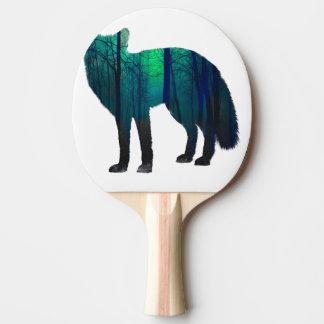 Rävsilhouette - skogräv - rävkonst - wildfox pingisracket