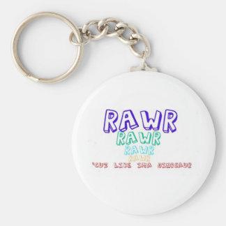 """Rawr, Cuz lik Ima Dinosaur! "", Rund Nyckelring"