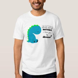 Rawr elak älskar jag dig i DINOSAURskjorta Tee Shirt