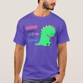 Rawr elak älskar jag dig i DINOSAURskjortan #3 T Shirts