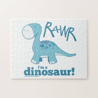RAWR mig förmiddag ett DinosaurDiplodocuspussel Pussel