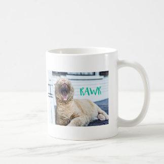 RAWRing kattunge - gäspa katten - ryta katt Kaffemugg