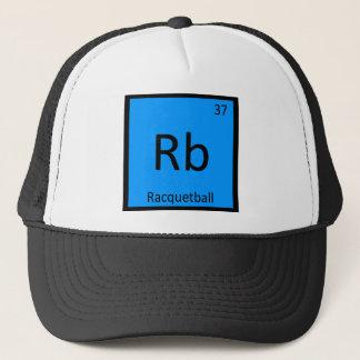 Rb - periodiskt bord för Racquetballsportkemi Truckerkeps