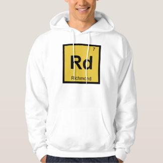 Rd - Periodiskt bord för Richmond Virginia kemi Tröja Med Luva