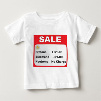 rea för protonselektronneutrons t-shirt