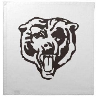 Realistisk björn tygservett