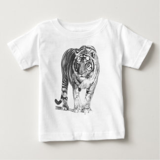 Realistisk hand plockadeBengal tiger med att Tee Shirts