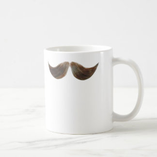 Realistisk mustaschmugg vit mugg