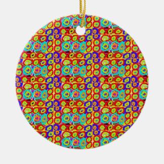 RealitetENERGI pricker n cirklar mönster vid Julgransprydnad Keramik