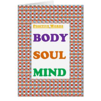 Realitetord: Förkroppsliga Soul varar besvärad Hälsningskort