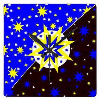Realitetstjärnor tar tid på fyrkantig klocka