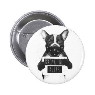 Rebellisk hund standard knapp rund 5.7 cm