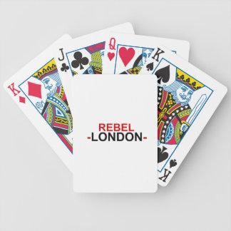 Rebellisk London cykel som leker kort Spelkort