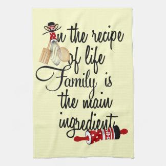 Recept av liv är familjkökshandduken kökshandduk