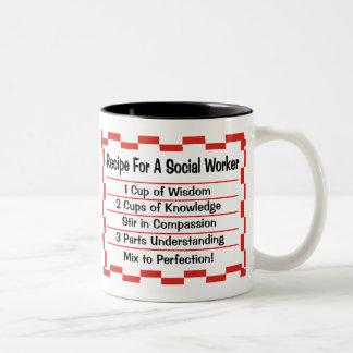 Recept för en socialarbetare Två-Tonad mugg
