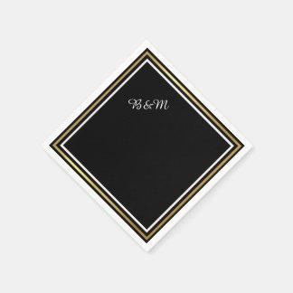reception_party svart enkelt för elegant bröllop papper servetter