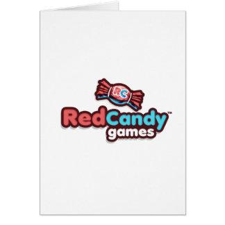 RedCandy spelar officiella Merch Hälsningskort