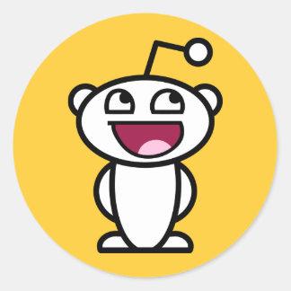 Reddit enormt ansikte runt klistermärke