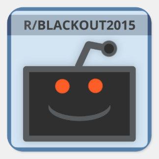 Reddit R/Blackout2015 emblemklistermärke Fyrkantigt Klistermärke