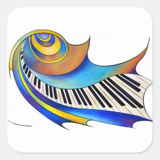 Redemessia - spiralt piano fyrkantigt klistermärke