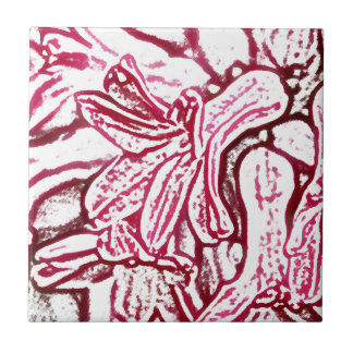 Redigerad hyacint kakelplatta