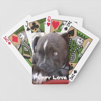 Redigerbar babyPitbull valp Spelkort