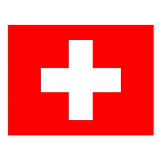 Redigerbar bakgrund, flagga av Schweitz Vykort