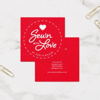 Redigerbar färgsnyggt som sys med fyrkantigt visitkort