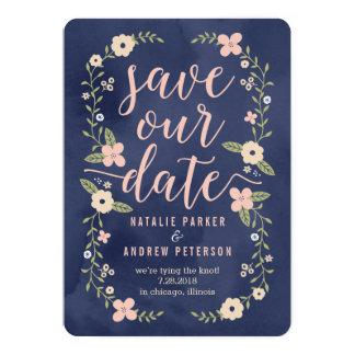 Redigerbar färgspara för blom- skönhet 12,7 x 17,8 cm inbjudningskort