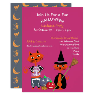 Redigerbar gullig rolig inbjudan för Halloween 12,7 X 17,8 Cm Inbjudningskort
