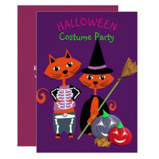 Redigerbar gullig roligt för Halloween dräktparty 12,7 X 17,8 Cm Inbjudningskort