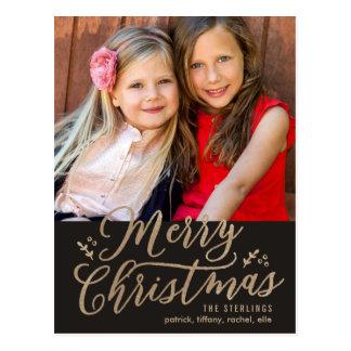 REDIGERBAR vykort för FÄRGgod julhelgdag