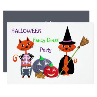 Redigerbart gulligt roligt party för Halloween 12,7 X 17,8 Cm Inbjudningskort