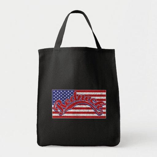 Redneck och flagga tote bags