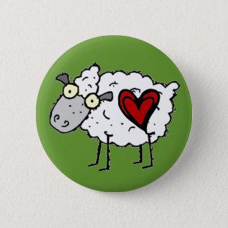 Redneckälskling - fårkärlek standard knapp rund 5.7 cm