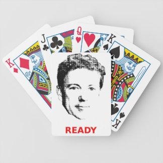 Redo för randen som leker kort spel kort